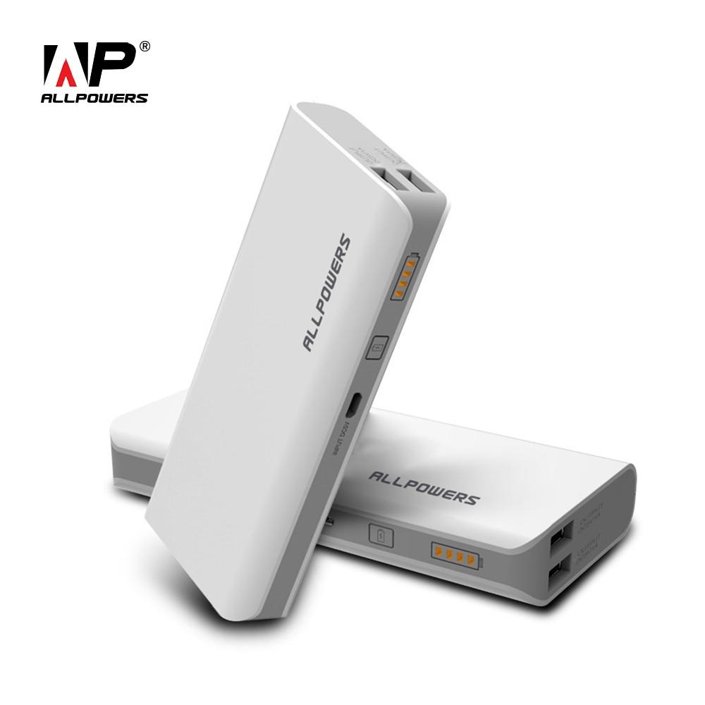 ALLPOWERS 15600mAh Phone Charger Power Bank Portable External <font><b>Battery</b></font> Dual USB for <font><b>Cellphone</b></font> Tablets iPhone Samsung LG Xiaomi LG