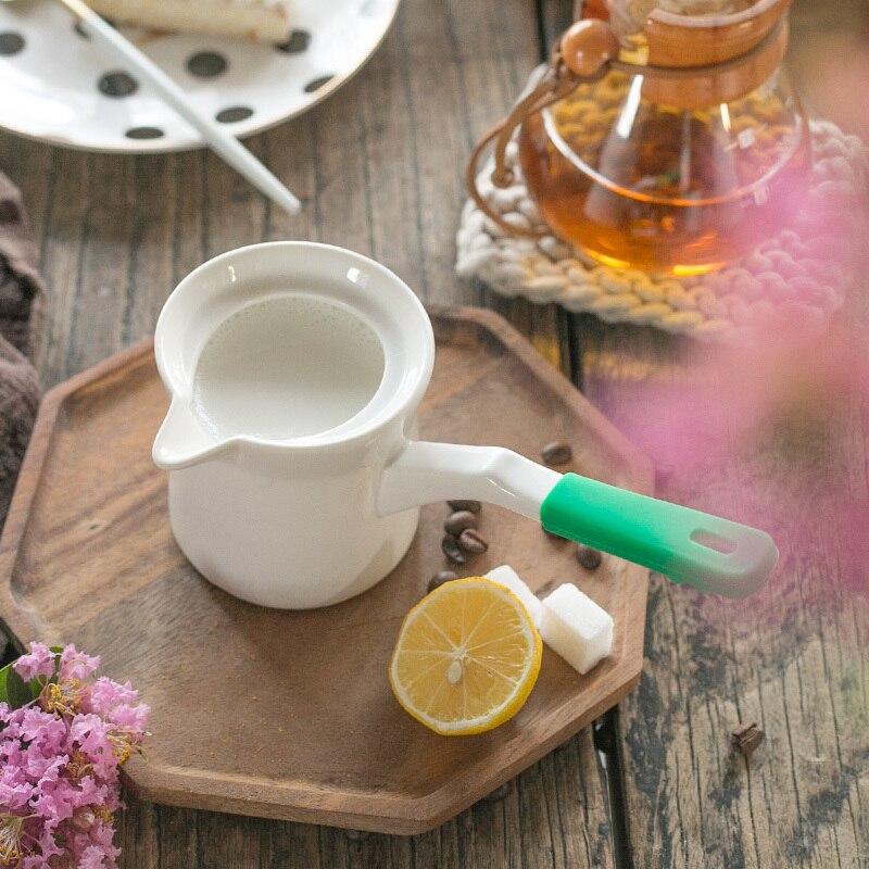 Turkey Ceramics Flame Heat Heated Milk Mocha Kettle Boil Make Cook Coffee Drip Pot Ibrik Turkish Breakfast MOKA Cup Long Handle