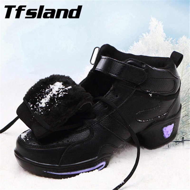 Nuevo Otoño Invierno mujer zapatos de baile cuadrados de cuero suave Jazz Hip Hop zapatos Salsa mujer Zapatillas transpirables regalo de Navidad