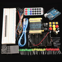 Free Shipping Starter Kit With UNO R3 MEGA328P 830 Holes Breadboard For Arduino