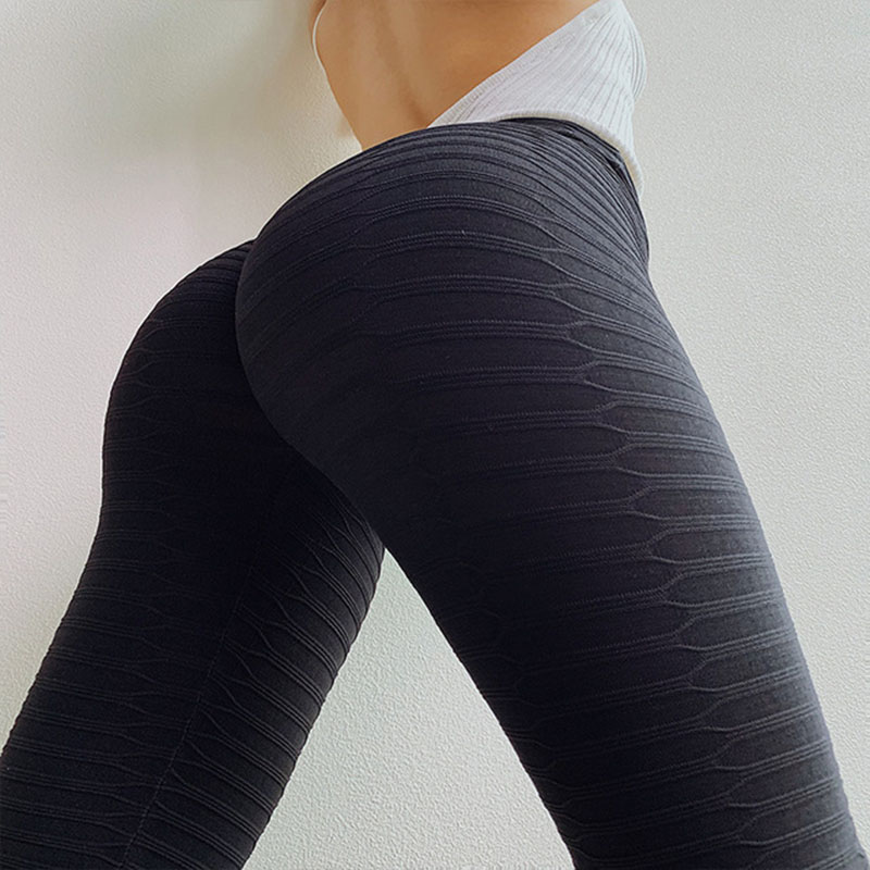 NORMOV Women Casual Solid Color Push Up   Leggings   Sexy High Waist Elastic Knitted Fitness   Leggings   Skinny Slim Workout   Leggings
