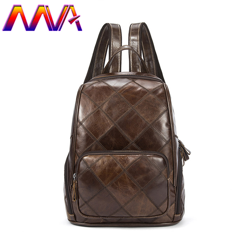 MVA Genuine leather women backpack with top quality cow leather men backpack for fashion ladies backpack women backpacks