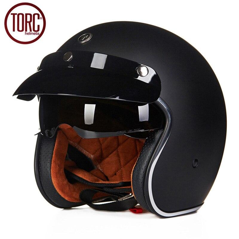 TORC Motorcycle Helmet Retro Harley Open Face Vintage Cruiser Helmet T5778 Moto Casque Casco motocicleta Capacete Helmets
