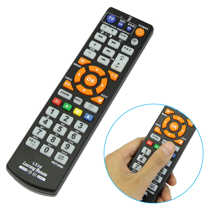 Mayitr 126 keys Smart TV Remote Control Universal Remote Controller with Learn Function for TV SAT DVD