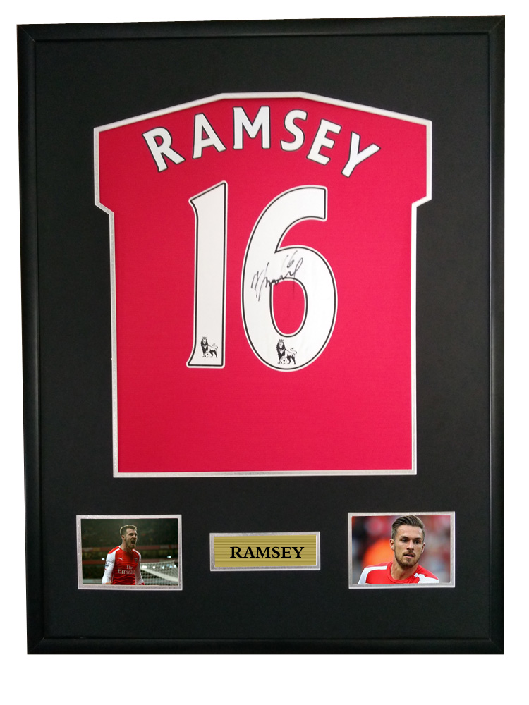 the latest f38dd 36ea2 US $750.0 |Aaron Ramsey signed autographed soccer shirt jersey come with Sa  coa framed Arsenal-in Frame from Home & Garden on Aliexpress.com | Alibaba  ...
