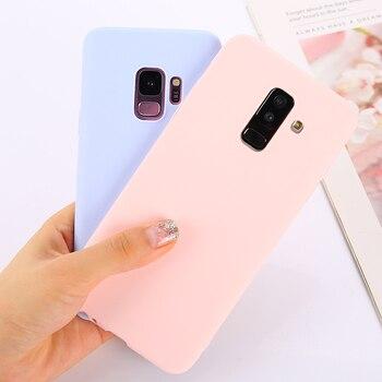 Candy Soild Color Case For Samsung Galaxy A50 A70 A40 A30 A20 A10 Note 10 9 S8 S9 S10E 5G J4 J6 Plus J8 A6 A7 2018 Phone Cover 1