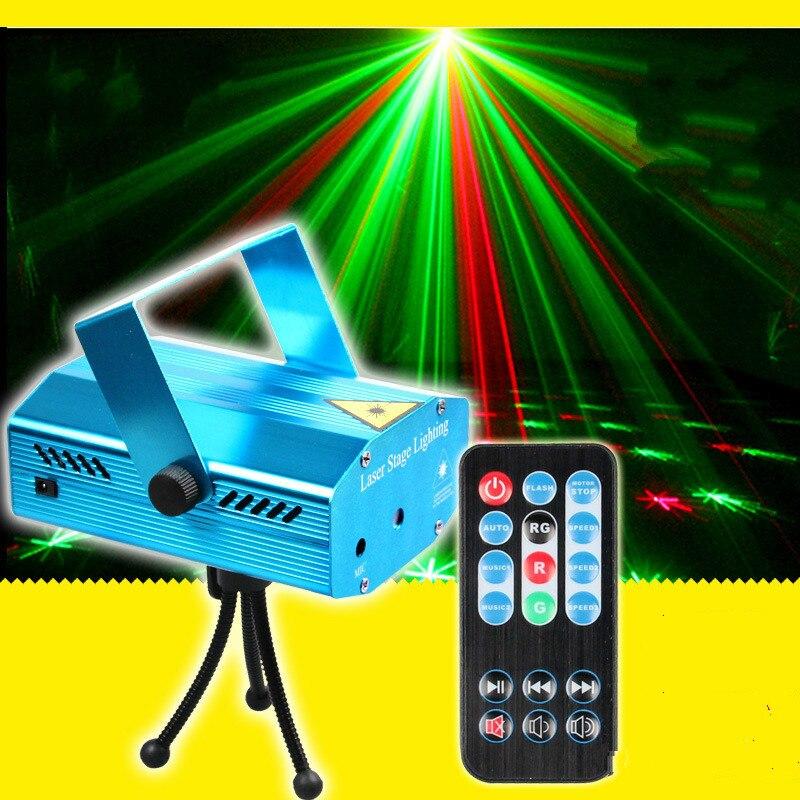 Remote stars stage laser light Green Lantern Festival Lights KTV voice pattern bar