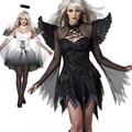 Фантазия хэллоуин костюмы для женщин сексуальная фантазия косплей причудливого платья партии 2016 осень Взрослых Падший Ангел Костюм