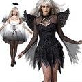 Fantasia disfraces de halloween para las mujeres sexy fantasy cosplay fiesta de disfraces 2016 otoño Adultos Fallen Angel Costume