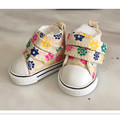 5 CM Mini Shoes Sneakers Shoes Accessories for Dolls,BJD Snickers Toy Shoes , 1/6 BJD Doll Shoes with Flower Pattern 2 Pair/Lot
