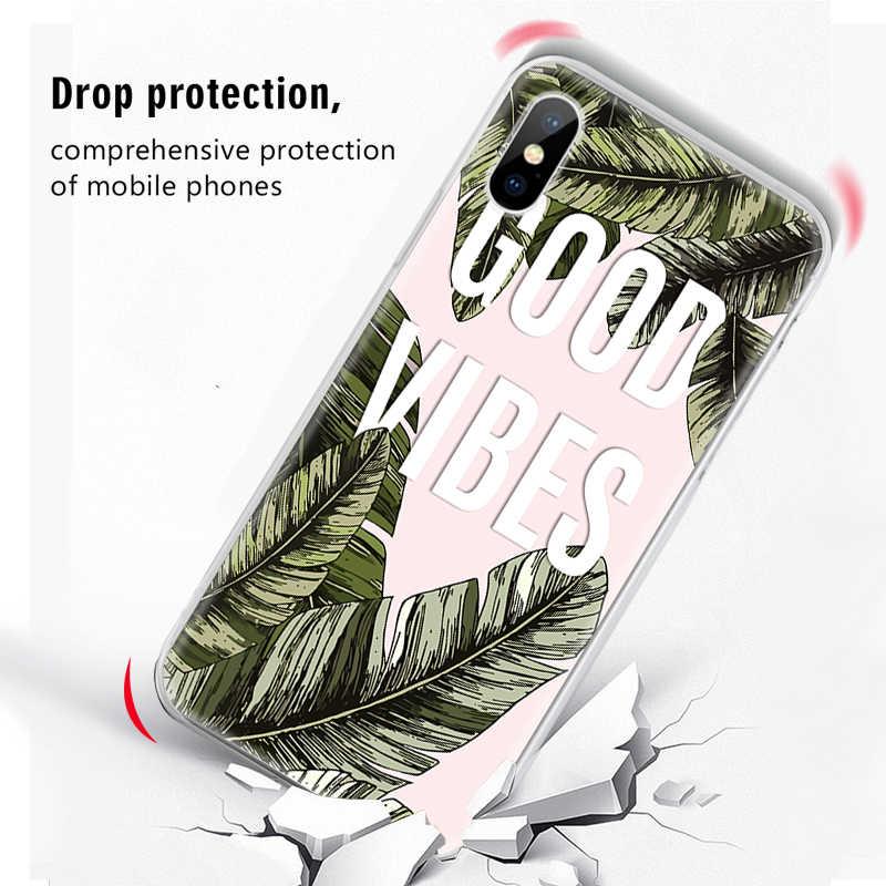 VEVICE جميل واضح TPU خزائن هاتف آيفون XR XS ماكس X 8 7 6 6S زائد 5 5S SE لينة غطاء زهرة الحيوانات القلب نمط كوكه Fundas