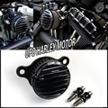 Black CNC Custom Rough Crafts Air Cleaner Intake Filter For 2004-2014 Harley Sportster 883 04-14 XL 1200