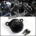 Preto CNC Custom Áspera Artesanato Air Filter Cleaner Intake Para Harley Sportster 2004-2014 883 04-14 XL 1200