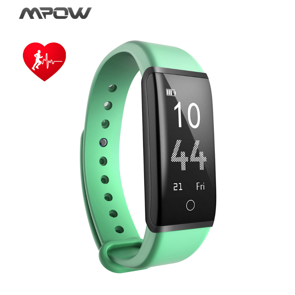 Mpow Bluetooth v4.2 Fitness Tracker 0.96inch OLED Display Smart Bracelet HR/Sleep Monitor Message/Call Reminder For iOS Android