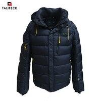 TALIFECK 2018 New Arrival Men Winter Jacket Casual Warm Jackets Mens Winter Cotton Parkas Size M 3XL Men Fashion Simple Coat