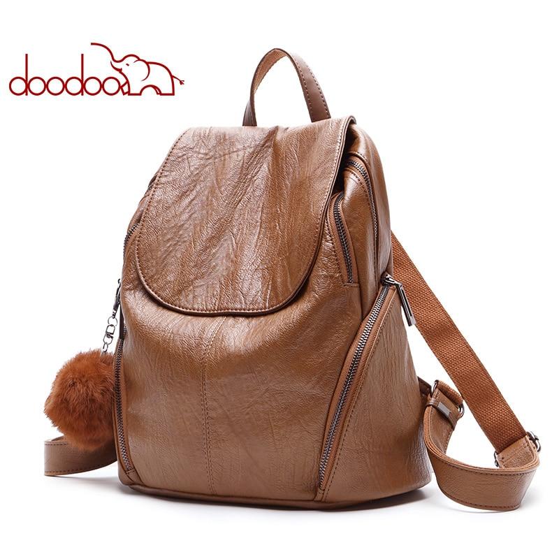 Mode adolescent sac à dos femme géométrique femmes Pu cuir sacs à dos voyage multifonctionnel sacs d'école ours ornements 2019 nouveau chaud