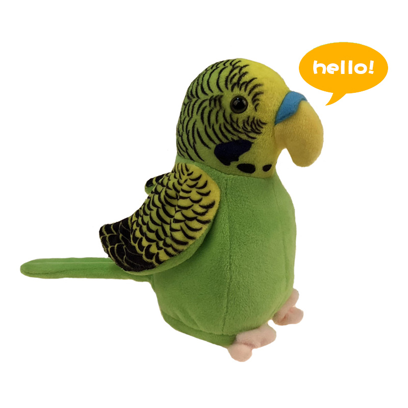 18cm Cute Talking Parrot Toy Speaking Record Repeats Waving Wings Electric Parrot Stuffed Plush Toy Kids Birthday Gift