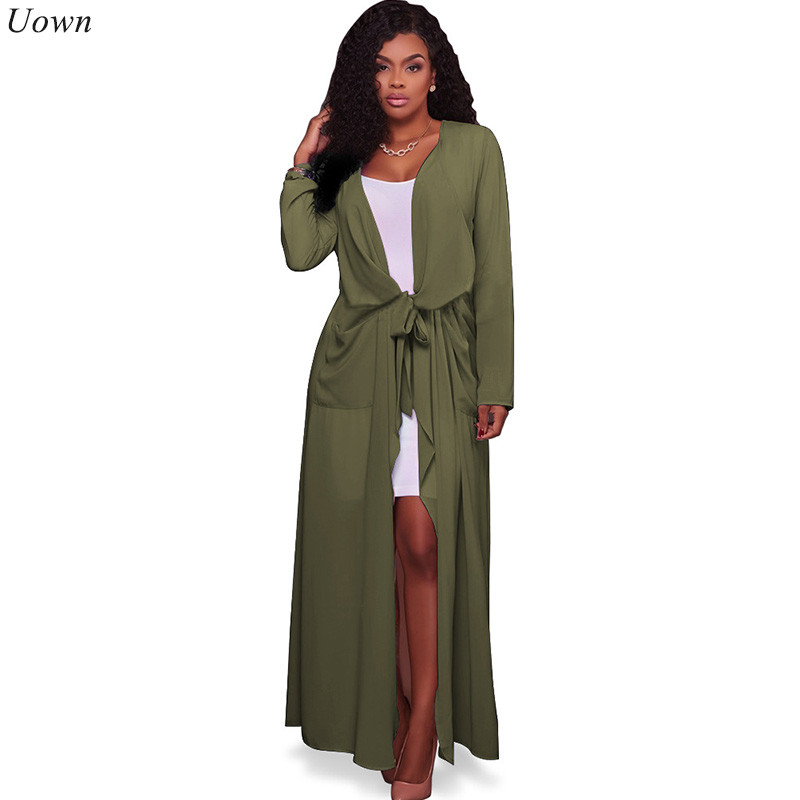 Doyerl Şifon Bluz Uzun Gömlek 2017 Kadın V Yaka Uzun Kollu Casual Zarif Cepler Kimono Hırka Gevşek Kadın Chemise Tops