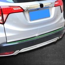 Автомобильная задняя защитная накладка багажника для honda vezel HRV HR-V 2012- Задняя накладка на бампер из нержавеющей стали Автомобильный задний стикер