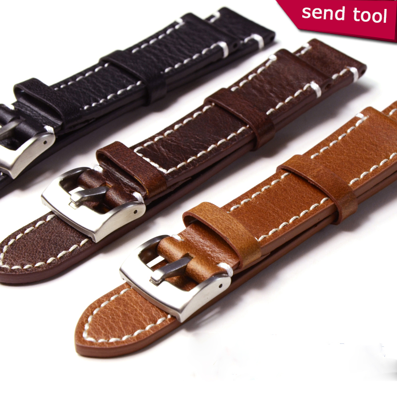 Calf Genuine Leather watchband 18mm 19mm 20mm 21mm 22mm
