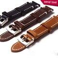 Para breitling pulseira 18mm/19mm/20mm/21mm/22mm de alta qualidade pulseira de couro genuíno cinto cinta para daniel wellington