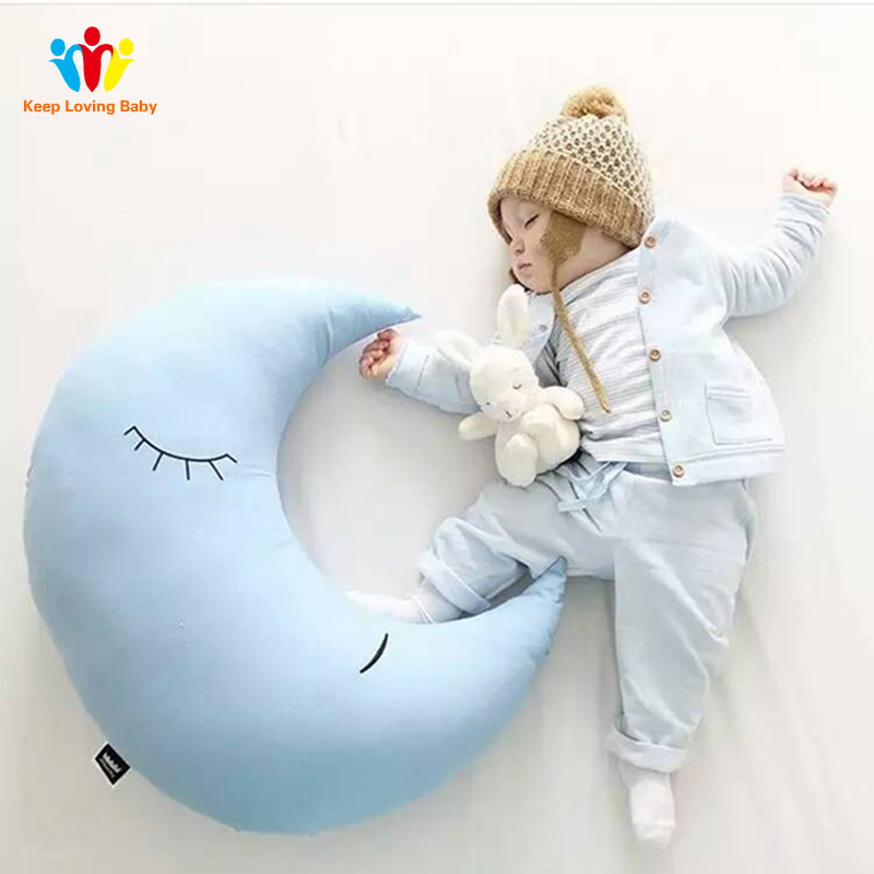 Moon Baby Pillow Infant Newborn Toddler Babies Nursing Pillow Kids Room Decoration Children Comfort Big Pillow For Baby Care