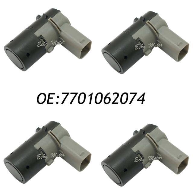 New 4PCS Parking Sensor PDC 7701062074,PSA 7701062074 Aid Reverse Backup For Peugeot 207,207CC Citroen C4 C5, 9653849080