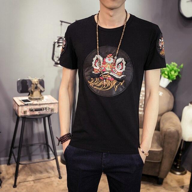 2018 Summer Tee Shirt Homme Fashion Korean Slim Fit T Shirt Men