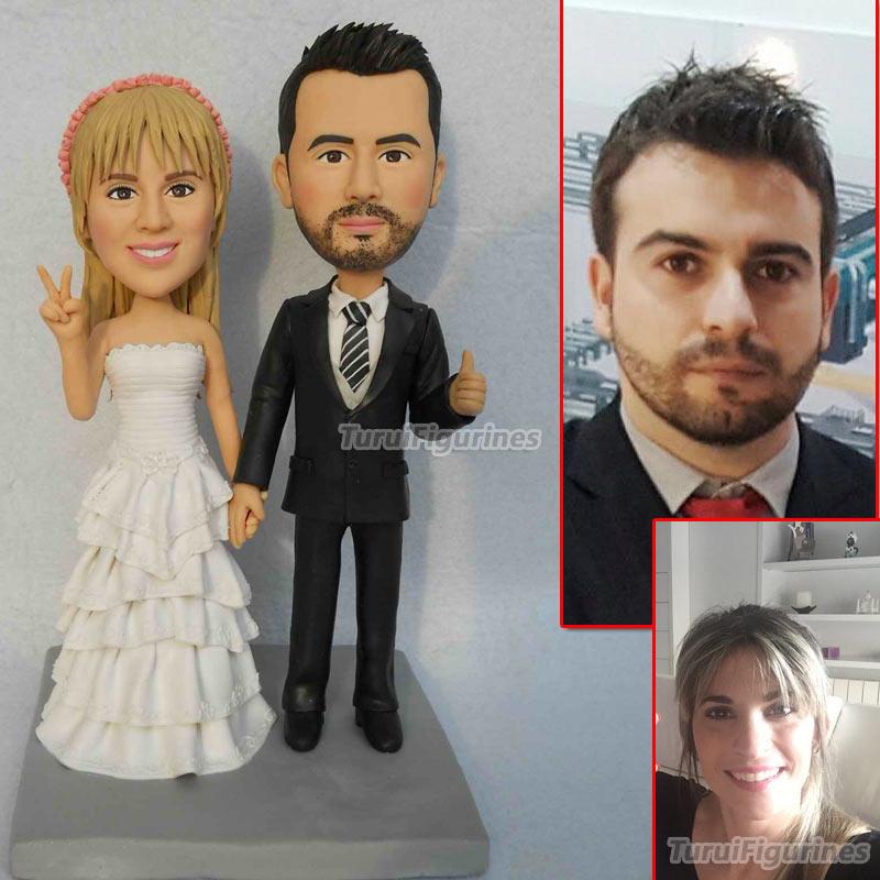 Свадебный торт Топпер фигурки персонализированные с питомцем собаки и невесты цветы свадебные подарки для невесты, жениха подарок подруге подарки - 2