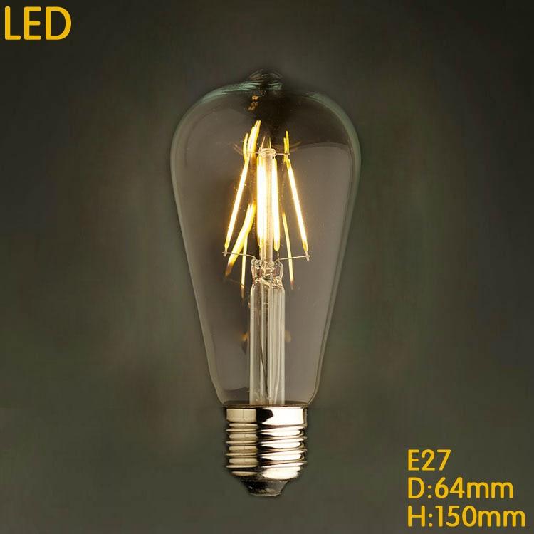 pendurada e27 110 220v pingente lampadas rustico 05