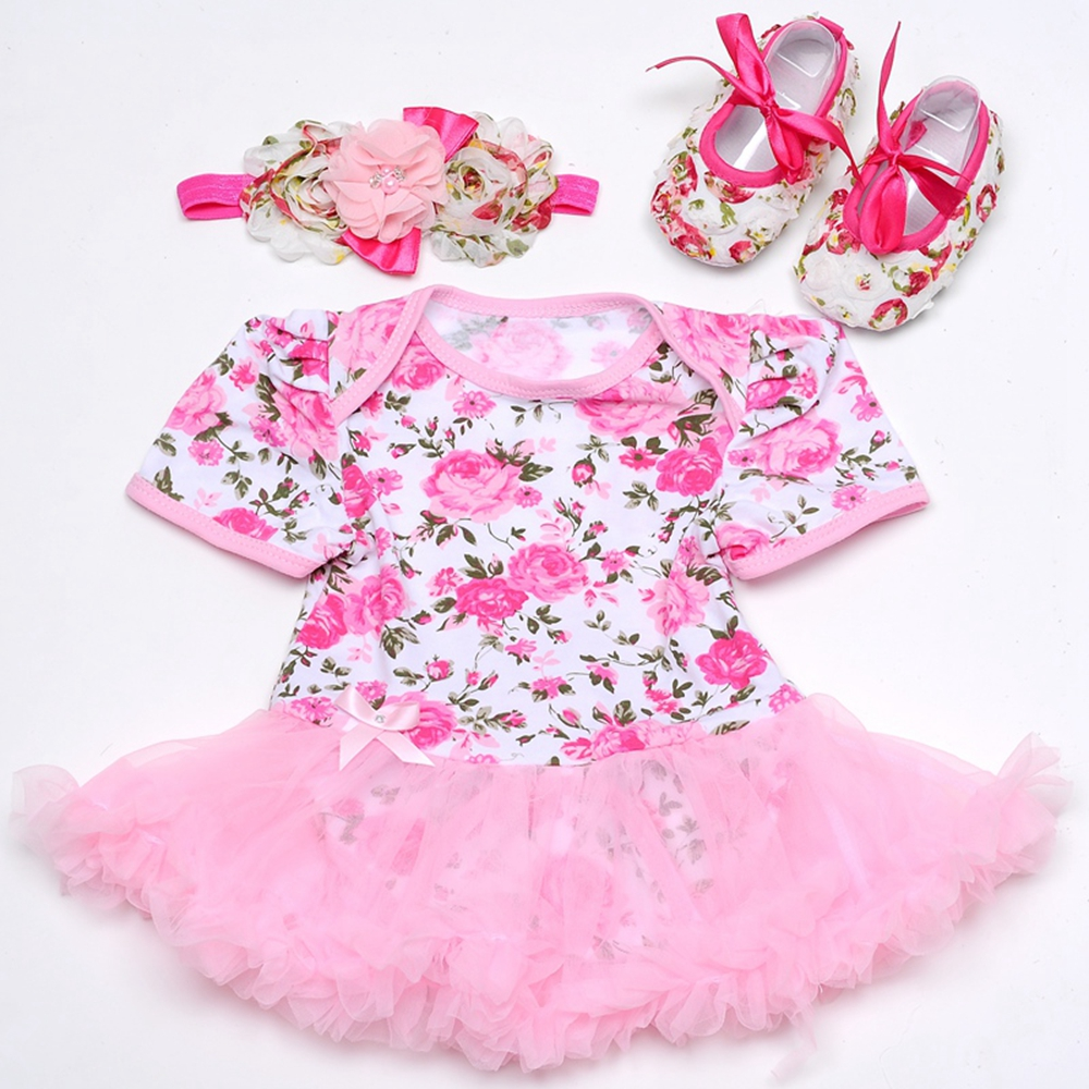 Aliexpress.com : Buy Toddler girl cake dress shoes headband set ...