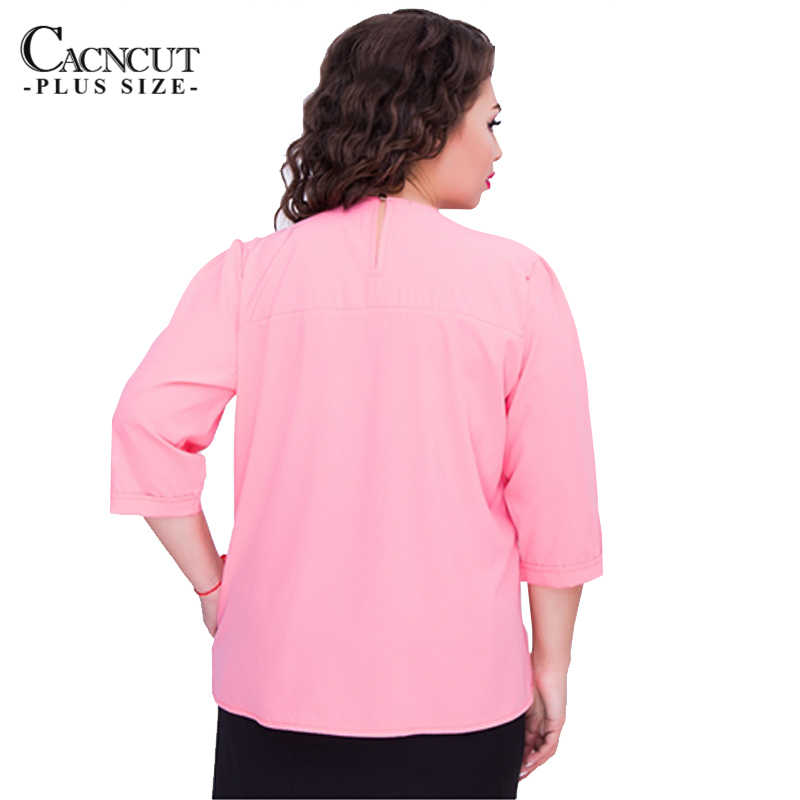 夏シフォンtシャツプラスサイズのクロップトップとtシャツ女性事務oネックカジュアルtシャツビッグサイズ 2019 新ファッションチュニックblusas