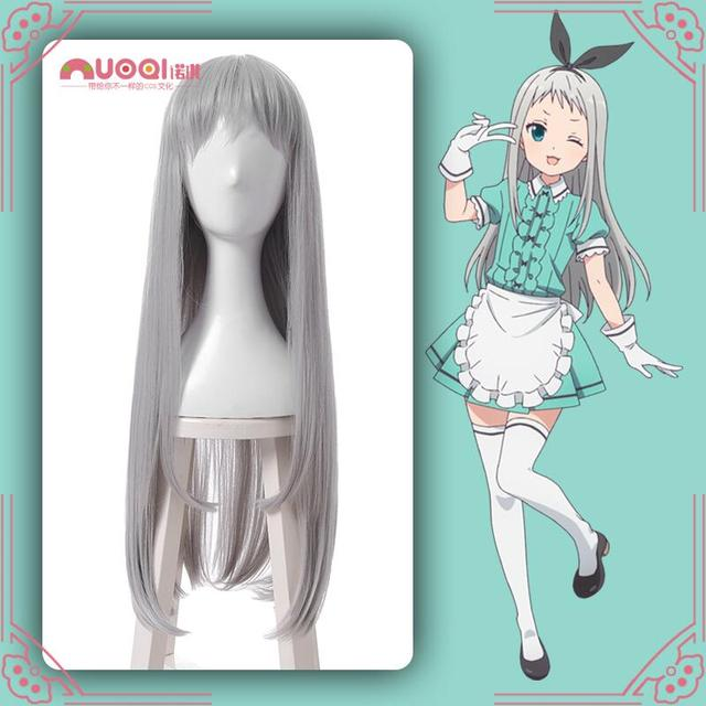Anime Blend S Cosplay Wig Hideri Kanzaki Girls Short Wavy Curly Synthetic  Hair 7015d3140d53
