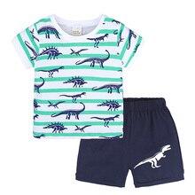 Kids Summer Pajamas Boys and Girls Fashion Cartoon Short-sleeved Sleepwear Baby Cute Nightgown Suit