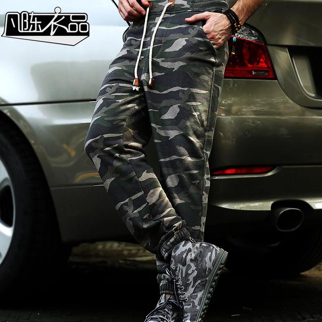 Pantalones Hombre Pantalones Oferta Especial Fanchenyipin 2015 Marca Camuflaje Pantalones Sueltos Hombres Pantalones de Chándal Pant Joggers
