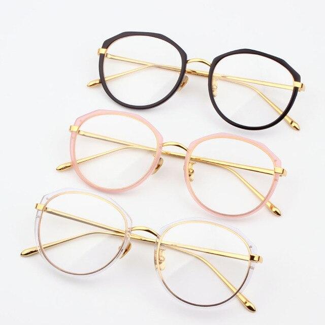 c6dc578b7 2017 جديد آخر موضة المعادن اليدوية بنات نساء خلات النظارات ، الطبية العصرية  ol الإناث جودة