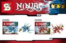 SY535 Ninja Series Lightning Dragon Cole Mechanical Dragon Kids Brick Building Block Minifigure Toys Compatible with Legoe