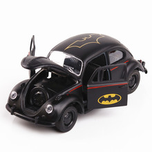Black Bat Car Model Die Cast Materialelængde 12Cm Ikke med lys og lyd, 3 døre Åbn Becautiful Vehicles
