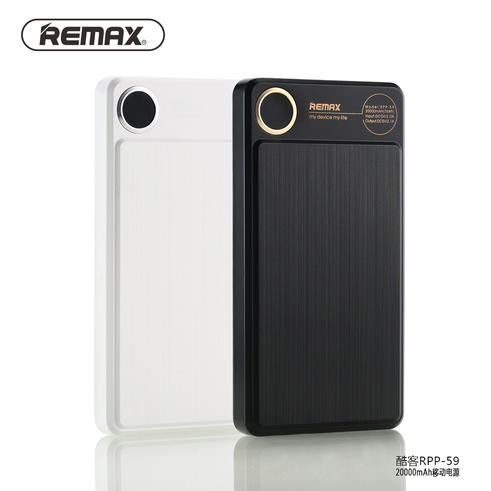 Original REMAX RPP-59 Portable 20000MAH Power Bank Double USB Powerbank External Battery Charge Universal