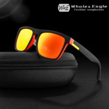 Whale & Eagle Sunglasses Mens Classic Mixed Colors Cool Driver Polarized Red Coated Lens Brand Design Women UV400