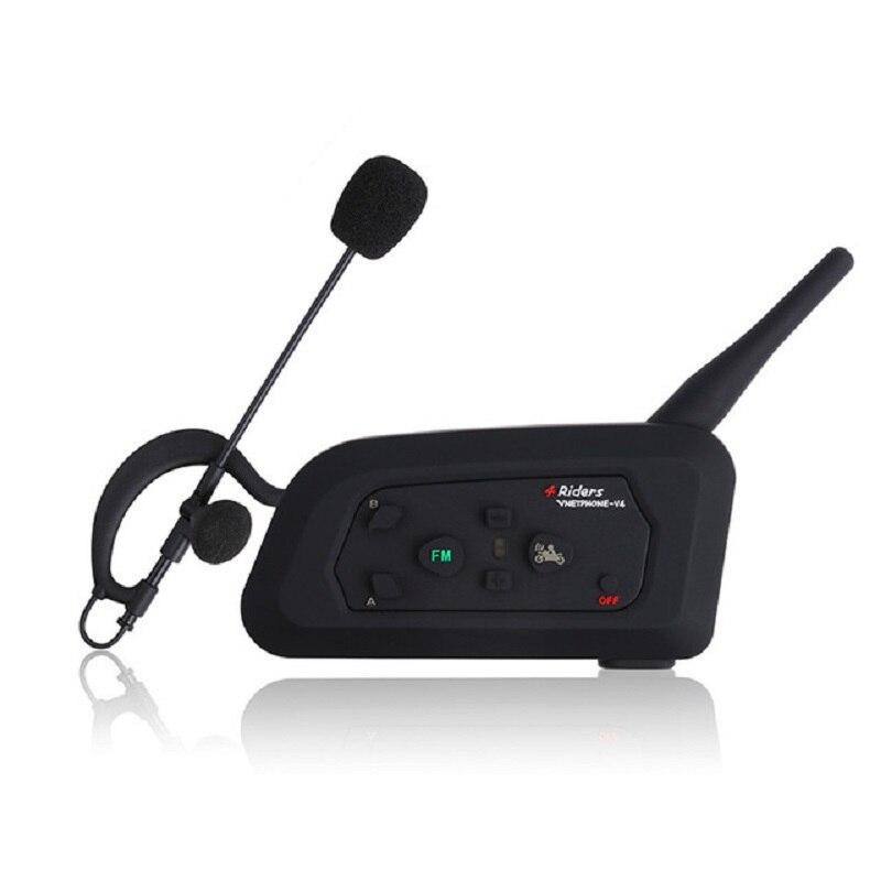 1PCS V4C 1200M Football Referee Bluetooth Intercom Talking Communication for 4 Users Waterproof BT Referee Intercom Interphone