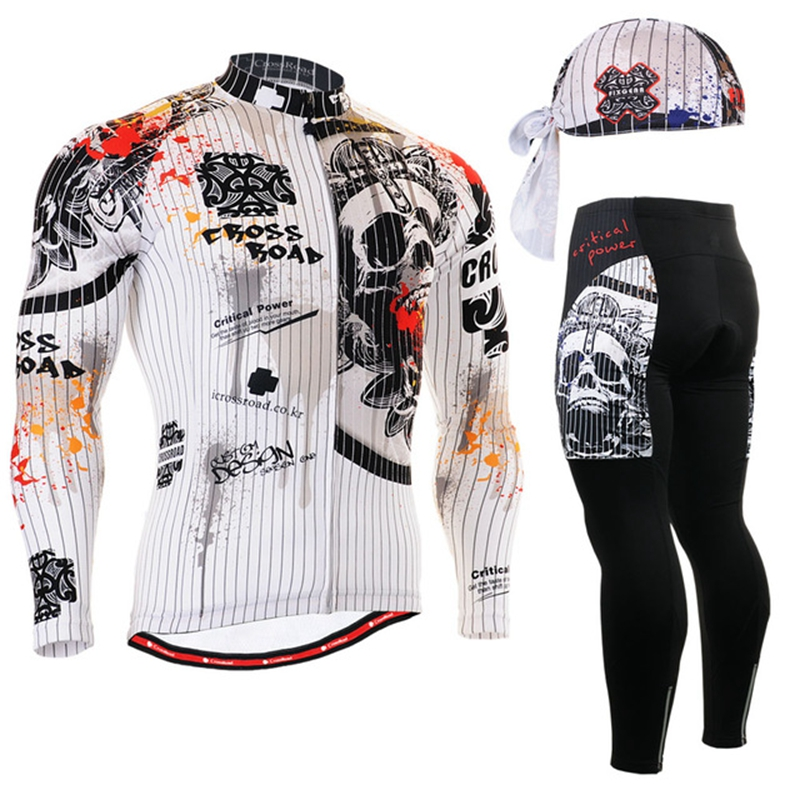 2017 Brand Cycling Jersey Sets long Sleeve spring autumn spandex Quality Guarant Cool Long Sleeve Clothes Mixed color Bicycle