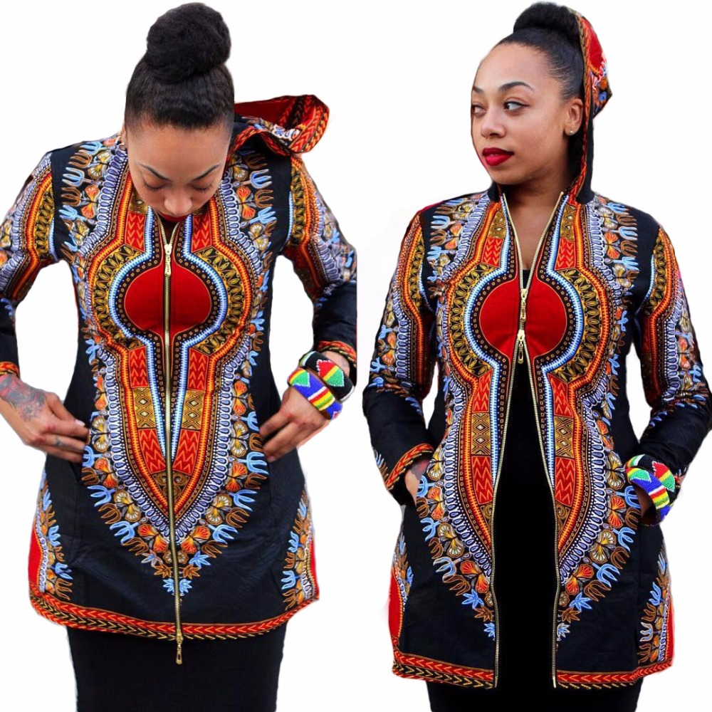 6c59bc3381b 2017 autumn Women Basic Coats Dashiki Plus Size Slim Traditional African  Clothing Chaquetas Mujer Duster Coats And Jackets-in Trench from Women s  Clothing ...