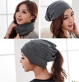 2017 spring autumn gorros womens beanie hat for women 3 way to wear bonnet High Cost performance woman multifunctional beanies