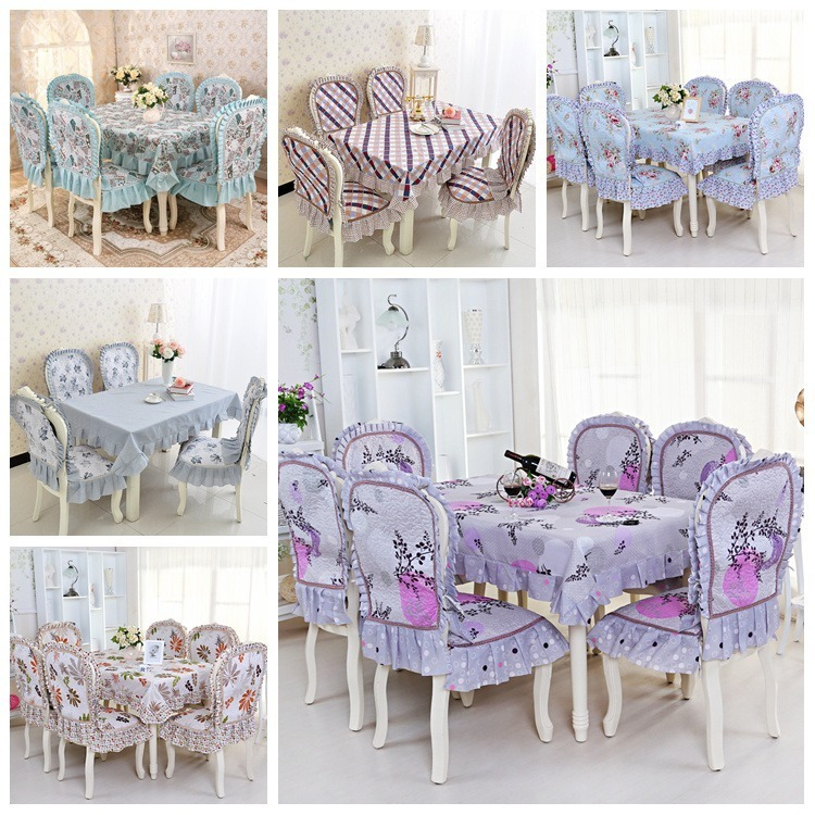 Fashion Plus Size Cushion Dining Chair Set Table Cover Cloth