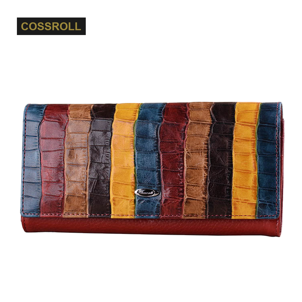 COSSROLL Vintage Brand Women's Wallet Leather Long Women Clutch Dollar Purse Luxury Designer Lady Purses Business Card Holder new arrival 2017 wallet long vintage man wallets soft leather purse clutch designer card holders business handbags clips