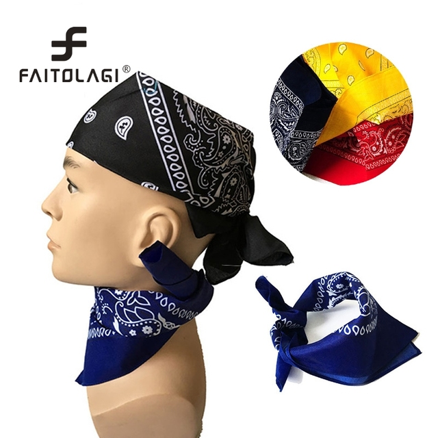Hip-Pop Men Bandanas Boys Girls Blend Head Scarf Boys Girls Scarf Female  Headwear Head Wrap Scarves Wristband Bandana e804b8df1ff