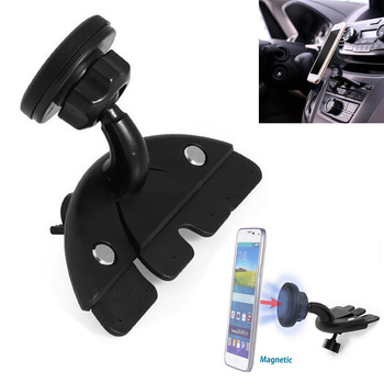 Universal Adjustable Car CD Player Slot Phone Holder Magnetic Mount Stand Holder for iPhone X 8 7 6 Plus Samsung Xiaomi Huawei
