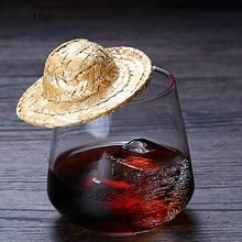 10pcs Mini Straw Hat Cocktail Whisky Drinks Decor Bar Accessories Wedding Birthday Hawaiian Pool Party DIY Decorations