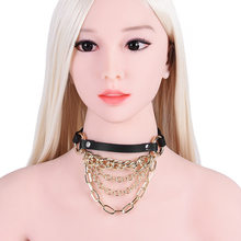 Sexy Toys for women Metal Necklace Chain Dog Cosplay Collar Nightclub Wear Decoration sex posture collar BDSM Bondage SM game(China)
